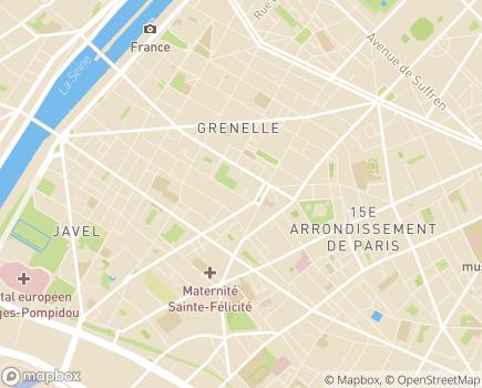 Localisation JCLT Foyer Internat Robert Levillain - 75015 - Paris 15