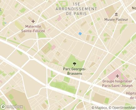 Localisation Entr'aide à Domicile - 75015 - Paris 15