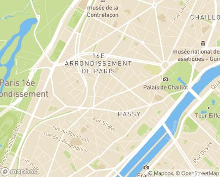 Localisation Clinique de La Muette (Ramsay - Générale de Santé) - 75116 - Paris 16