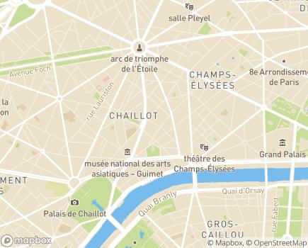 Localisation Centre Médico-Chirurgical Georges-Bizet - 75116 - Paris 16