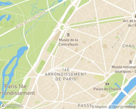 Localisation Clinique Nescens Paris Spontini - 75116 - Paris 16