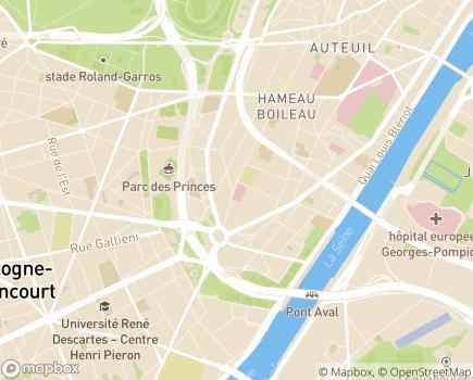 Localisation Centre de Gérontologie Henry Dunant - 75016 - Paris 16