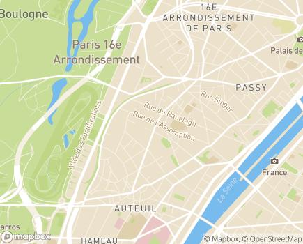 Localisation Foyer d'Accueil Médicalisé Jean Louis Calvino - 75016 - Paris 16