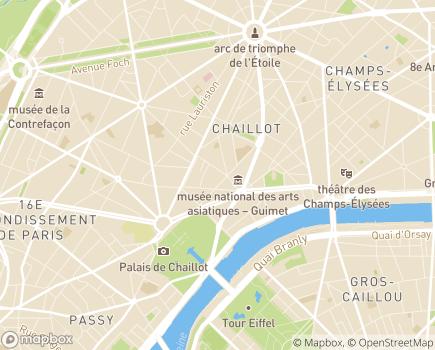 Localisation EHPAD Résidence Chaillot - 75016 - Paris 16