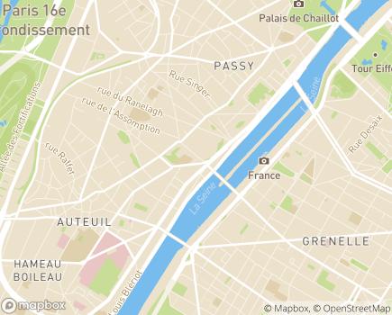 Localisation L'Ange Gardien - 75016 - Paris 16