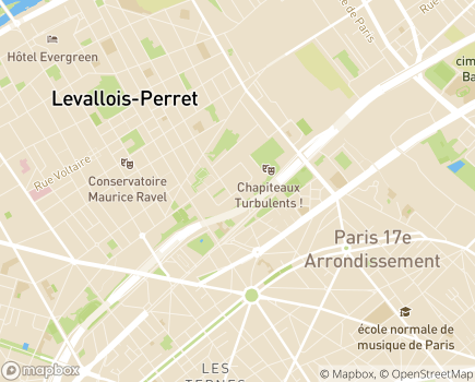 Localisation Foyer Bernard Lafay - 75017 - Paris 17