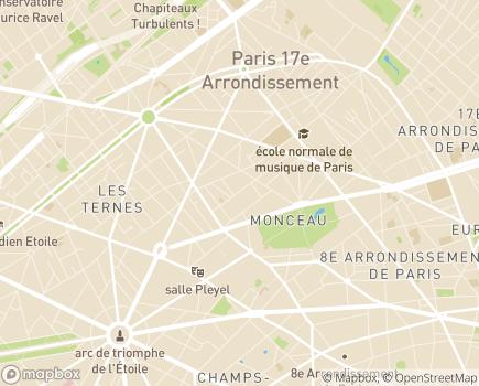 Localisation Korian Monceau - 75017 - Paris 17