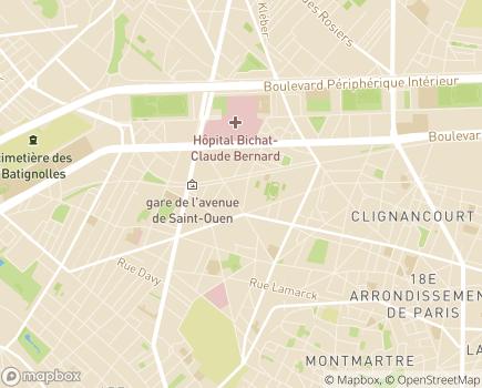 Localisation Foyer de Vie et Centre d'Activités de Jour Saint-Joseph - 75018 - Paris 18