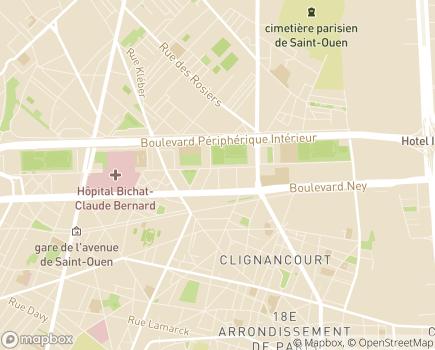 Localisation Relais 18 Hébergement - 75018 - Paris 18