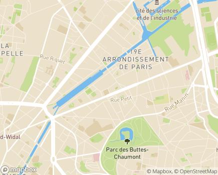 Localisation Foyer de l'Enfance Tandou - 75019 - Paris 19