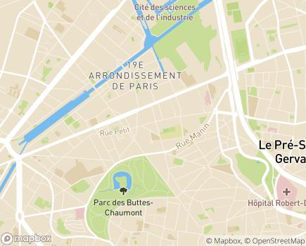 Localisation Résidence Autonomie Valentin Haüy - 75019 - Paris 19