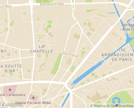 Localisation Centre Aussaguel - Centre d'Activités de Jour - 75019 - Paris 19