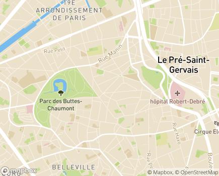 Localisation Fondation Maison des Champs - SOINS INFIRMIERS A DOMICILE -  SSIAD - 75019 - Paris 19