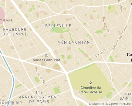 Localisation ESAT de Ménilmontant - 75020 - Paris 20