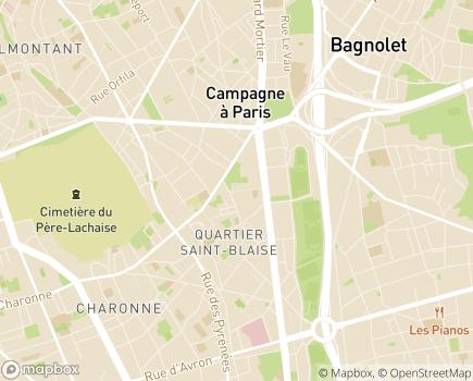 Localisation EHPAD Alquier Debrousse - 75020 - Paris 20
