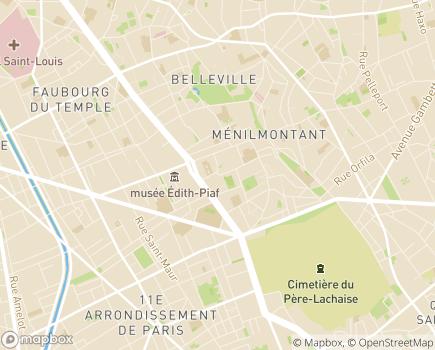 Localisation EHPAD Résidence Les Airelles - 75020 - Paris 20