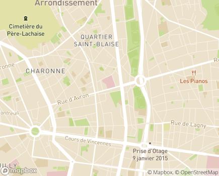 Localisation Korian Saint-Simon - 75020 - Paris 20