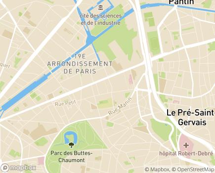 Localisation APATD Association pour l'Assistance Totale à Domicile - 75019 - Paris 19