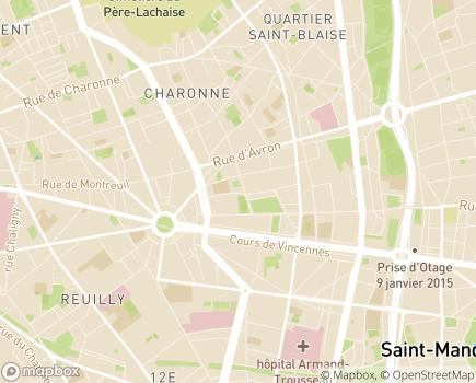 Localisation Assistance à Domicile Personnes âgées et/ou handicapées - 75020 - Paris 20