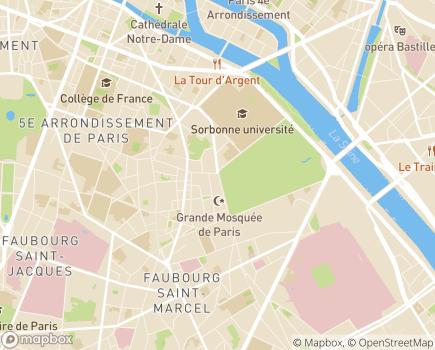 Localisation Clinique Geoffroy Saint-Hilaire (Ramsay - Générale de Santé) - 75005 - Paris 05