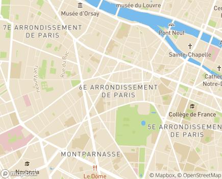 Localisation ESAT des Beaux-Arts Association Resolux - 75006 - Paris 06
