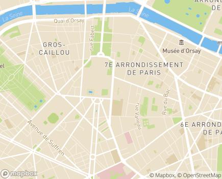 Localisation Institution Nationale des Invalides - 75700 - Paris 07