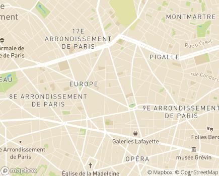 Localisation Clinique du Souffle Paris Clinique Milan - 75009 - Paris 09