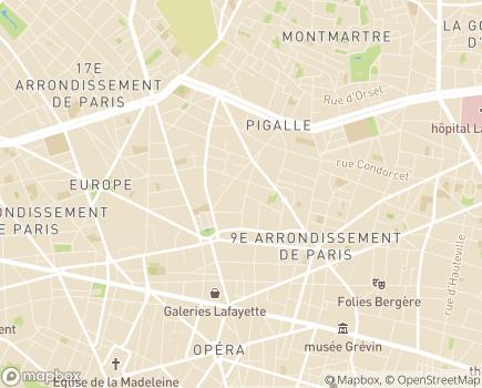 Localisation Fondation l'Élan Retrouvé - 75009 - Paris 09
