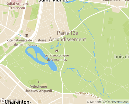 Localisation Ecole de Chiens Guides pour Aveugles et Malvoyants de Paris et La Région Parisienne - 75012 - Paris 12