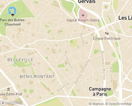 Localisation Novemploi - 75020 - Paris 20