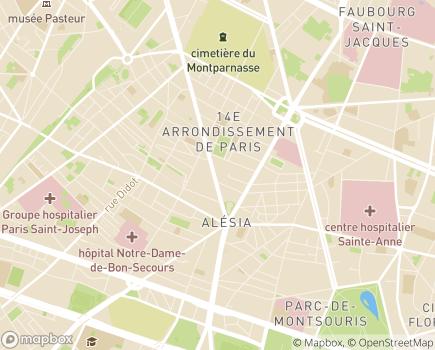 Localisation Korian Jardins d'Alésia - 75014 - Paris 14