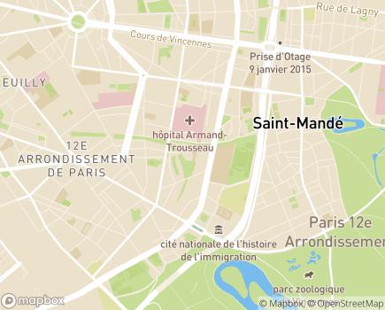 Localisation Centre d'Accueil de Jour Dumonteil - 75012 - Paris 12