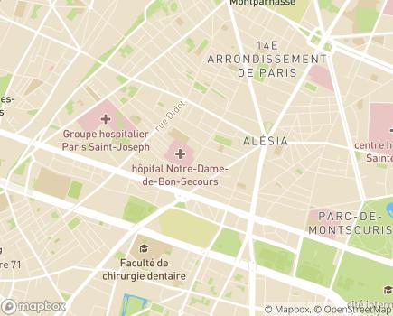 Localisation EHPAD Maison Sainte Monique - 75014 - Paris 14