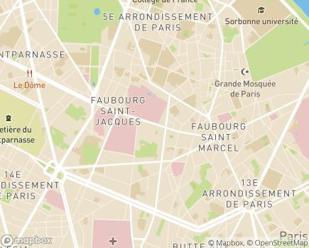 Localisation Hôpital d'Instruction des Armées du Val de Grâce - 75230 - Paris 05