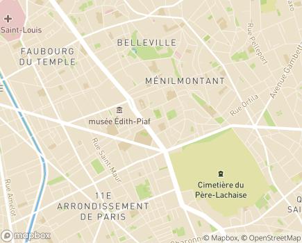 Localisation Korian Les Amandiers - 75020 - Paris 20