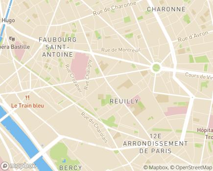 Localisation Entraide Universitaire, CAMSP Janine Lévy - 75012 - Paris 12