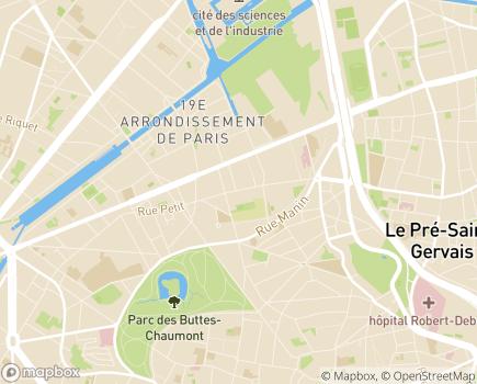 Localisation Korian - Clinique Canal de l'Ourcq - 75019 - Paris 19