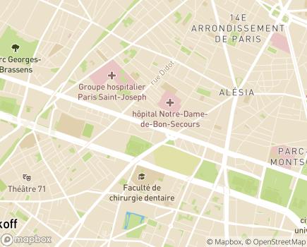 Localisation Korian Brune - 75014 - Paris 14