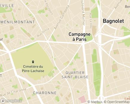 Localisation Korian Terrasses du XXème - 75020 - Paris 20
