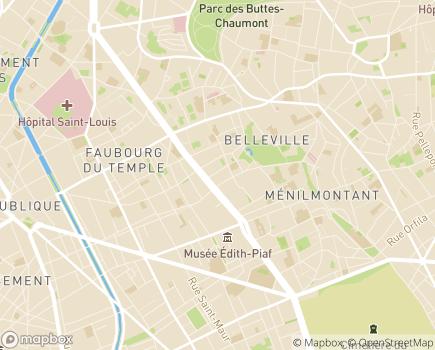 Localisation Fondation Casip-Cojasor - 75020 - Paris 20