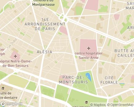 Localisation Association Entraide Universitaire - 75014 - Paris 14