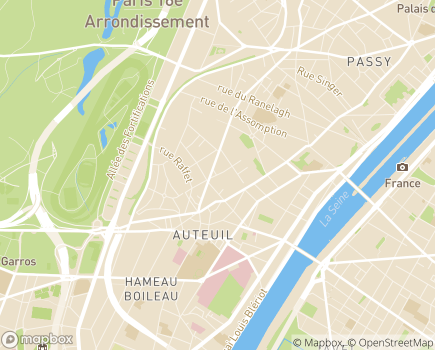 Localisation EHPAD Résidence Les Terrasses de Mozart - 75016 - Paris 16