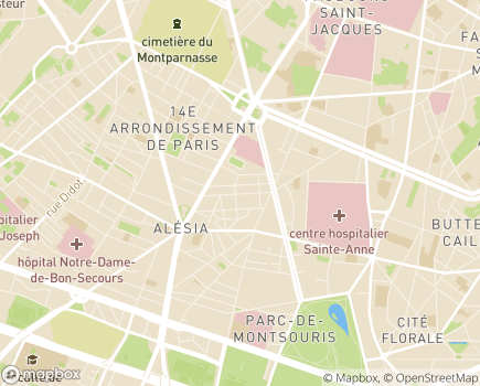 Localisation EHPAD Résidence Tiers Temps - 75014 - Paris 14