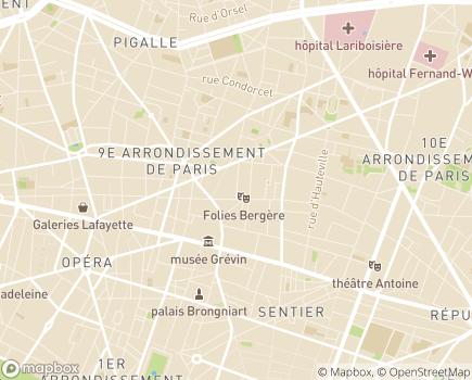 Localisation Afil'Aide - ADMR - 75009 - Paris 09