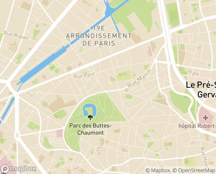 Localisation ESAT André Busquet - 75019 - Paris 19
