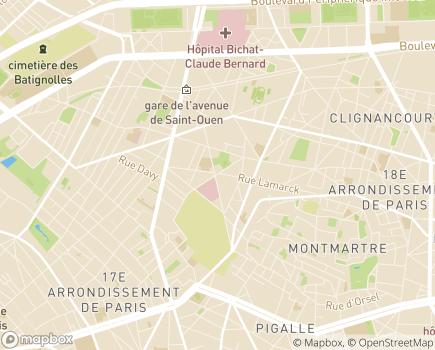 Localisation CLIC Paris Emeraude Nord-Ouest (8 - 17 - 18) - 75018 - Paris 18