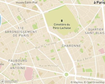 Localisation Résidence Philippe Auguste - 75011 - Paris 11