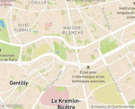Localisation Foyer d'Accueil Médicalisé Jean Faveris - 75013 - Paris 13