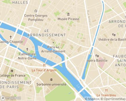 Localisation Résidence Services Ave Maria - 75004 - Paris 04
