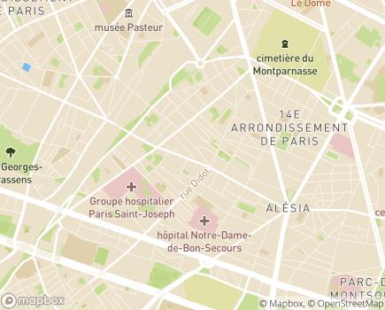 Localisation EHPAD Julie Siegfried - 75014 - Paris 14
